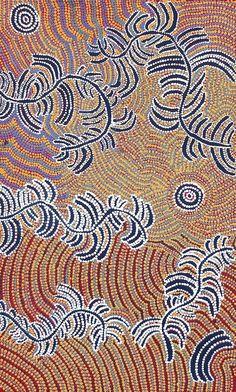 Watiya-warnu Jukurrpa (Seed Dreaming) by Katrina Nampijinpa Brown