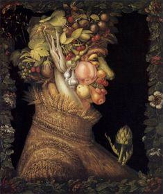 Global Gallery 'Summer' by Giuseppe Arcimboldo Painting Print on Wrapped Canvas Size: H x W x D Giuseppe Arcimboldo, Painting Prints, Canvas Prints, Paintings, Food Artists, Renaissance Artists, Medium Art, Photo Art, Oil On Canvas