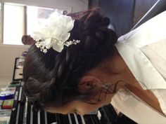 Wedding updo for thick hair!