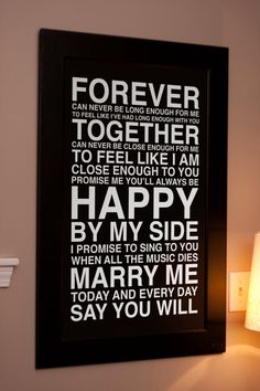 Ahh, love. I must have something like this for our living room! #marry_me #train #lyrics