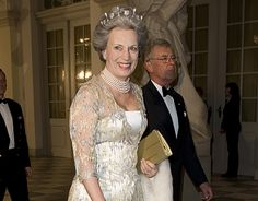 After Queen Ingrid's death in 2000, th star and pearl tiara passed onto her second daughter, Princess Benedikte of SWB