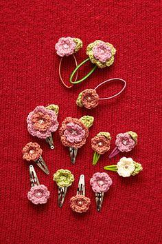 Ravelry: Flower Hair Accessories pattern by Lion Brand Yarn