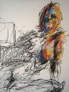 arin-bear:  willkimart:  Life Drawings by Will KimBrush Markers and Soft Pastels on Paper Happy Monday, good night all~  I really love these