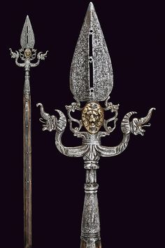 A linstock halberd, dating: circa 1600  provenance: Italy