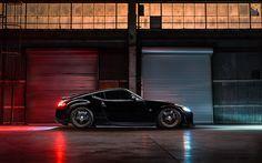 Scarica sfondi Nissan 370Z, 2017, auto sportive, tuning 370Z, nero 370Z, auto Giapponesi, Avant Garde Ruote, Nissan