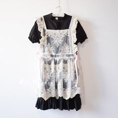Japanese lolita Lolita lace two-piece cotton short-sleeved dress soft sister student summer wind skirt - Taobao
