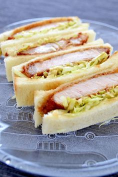 Katsu Sando (Pork Cutlet Sandwich):I sometimes get an intense craving for Tonkatsu sandwiches (Pork-Cutlet Sandwich))! The combination of the crisp coating served with plenty of sauce and the sliced bread is excellent. It's a staple! provided by OYSHEE - easy recipes -