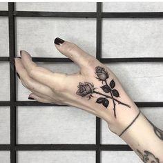 minimalist roses tattoo