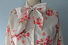 Dainty 50's Floral Bouquet RHODA LEE BowNeck by closiTherapi, $32.95