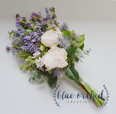 Wildflower Bridal Bouquet - Rustic Bouquet, Peony and Wildflower Bouquet, Shabby Chic Bouquet, Bridal Bouquet, Boho Bouquet by blueorchidcreations on Etsy