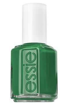 Lovely green nail polish for St. Patrick's Day.