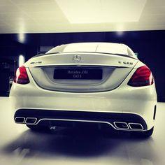 Rear end perfection.  [Mercedes-AMG C 63 | Combined fuel consumption: 8.4 - 8.2 l/100 km | CO2 emission: 195 - 192 g/km*]