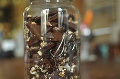 Burnt sugar toffee with chocolate & toasted walnuts