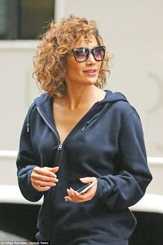 Lots to do: On Thursday J Lo was pictured filming Shades Of Blue in New York...