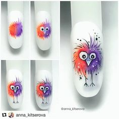 Best Picture For Makeup Art eyeliner For Your Taste You are looking for something, and it is going to tell … Animal Nail Designs, Animal Nail Art, Nail Art Designs, Cute Nail Art, Nail Art Diy, Cute Nails, Stylish Nails, Trendy Nails, Fruit Nail Art
