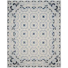 Found it at Wayfair - Perine Hand-Tufted Ivory/Blue Area Rug