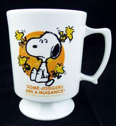 #Snoopy Mug  #Peanuts #Joggers Melmac Mug #Woodstock Collector's Quality #BlingBlinkyOfTexas