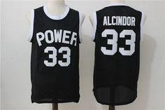 Men's Power Memorial Academy High School #33 Alcindor Kareem Abdul-Jabbar Black Swingman Baseketball Jersey