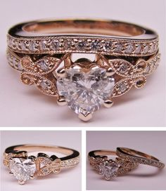 Engagement ring and wedding ring all in one - I'm in love! So perfect!