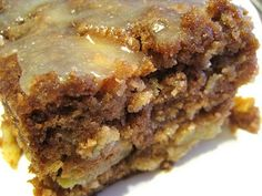 Georgia Apple Cake - Absolutely delightful, however, if you substitute white sugar for brown sugar in the topping glaze, it tastes sooo much better!