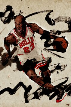 Michael Jordan Abstract Art