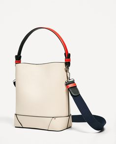 Image 1 of CONTRASTING DETAILS BUCKET BAG from Zara