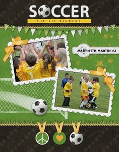 HM Peace Love Soccer Poster designed by: Roxanne Buchholz 11x14 print Template ID: 94871