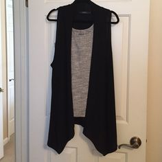 F.H.W High Low Vest No fabric info. Cotton/poly blend. Tank top not included. Very cute for spring! Fits closer to a 1x rather than 2x. Never worn. FHW Jackets & Coats Vests