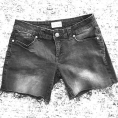 Grey Cutoff Shorts Grey Jean cutoff shorts size 5/6 only worn a few times slightly stretchy there is a very small bleach stain on the back right pocket as pictured 4 inch inseam Aeropostale Shorts Jean Shorts