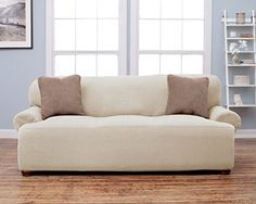 Leather Sofas Savannah Collection Strapless Slipcover Form Fit Slip R