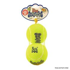 Kong Air Large Squeaker Tennis Ball x 2 Kong Air combines two classic dog toys the tennis ball and the squeaker toy and puts them together in an instantly recongizable shape to create the perfect fetch toy