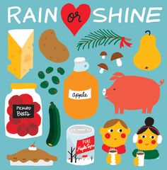 Illustration for Vancouver Farmers Markets by Jane Koo