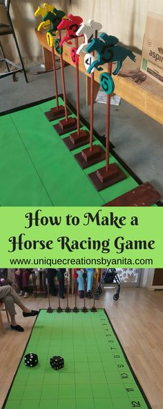 I made this horse racing game for the residents in our aged care facitity. #diy