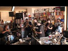 """So fun to watch Troy """"Trombone Shorty"""" Andrews & Orleans Avenue squeeze themselves into the NPR tiny desk concert space! Can't wait to see 'em at Port City Music Hall on June 6!!!"""
