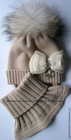 Buy or order a winter set of meri … Crochet Kids Hats, Baby Hats Knitting, Knit Or Crochet, Baby Knitting Patterns, Loom Knitting, Hand Knitting, Knitted Hats, Crochet Patterns, Handgemachtes Baby