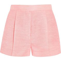 Stella McCartney's 'Warwick' shorts are bold and vibrant. They're tailored from structured slub canvas and are cut to sit high at the waist. The single pleats …