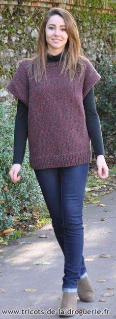 a62a658dfbd Le pull « Pomerol » en « Re-belle » coloris Barrique bordelaise   ladroguerie  tricot. La Droguerie
