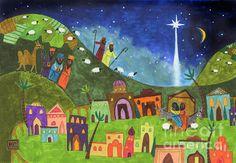 Mini Nativity by Kate Cosgrove - Mini Nativity Painting - Mini Nativity Fine Art Prints and Posters for Sale