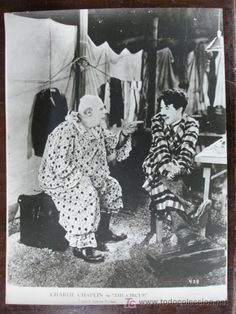 """Fotografía de Charlie Chaplin en """"The Circus"""" en todocoleccion."""