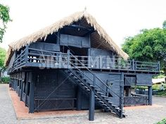 house of people at Daklak province, Vietnam. Houses usually make by wood