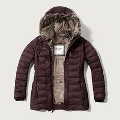 Faux-Fur Lined Puffer Jacket