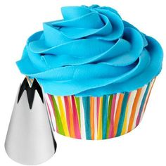 1M Swirl - Here is another quick way to decorate your cupcakes or cakes. It just takes minutes to pipe a fancy iced swirl and add colorful sprinkles.