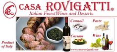 Plan your weekend today! It's friday!, stand out from the regular we will help you! :). Order Today- In Stock- great selection of wines, pastas and desserts!. www.casarovigatti.com. visit us!