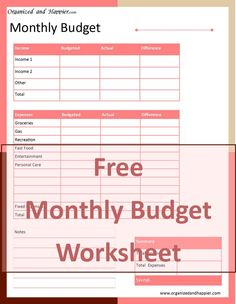 Use this printable to create a budget. | Posts | Pinterest | Budgeting