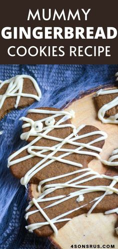 Who says you can only have gingerbread cookies at Christmas time? These spooky mummy gingerbread cookies give the holiday favorite, a fun Halloween twist! These gingerbread cookies are great for any Halloween get together to enjoy and celebrate!  #halloween #ad #HalloweenTreatsWeek Best Dessert Recipes, Candy Recipes, Quick Recipes, Pie Recipes, Fun Desserts, Baking Recipes, Cookie Recipes, Gingerbread Man, Gingerbread Cookies