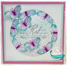 kaarten van Marianne: Vlinders op de gelliplate