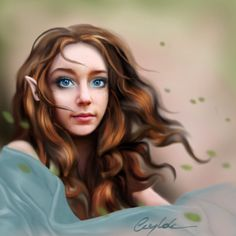 Spring elf by Aegileif.deviantart.com on @deviantART