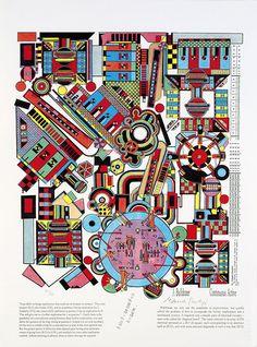 Eduardo Paolozzi, 'Turing Screenprint in colours, Eduardo Paolozzi, James Rosenquist, Pop Art Collage, Gcse Art, High Art, Street Art Graffiti, Cultura Pop, Grafik Design, Geometric Art