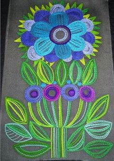 Jacobean Embroidery, Embroidery Applique, Cross Stitch Embroidery, Embroidery Patterns, Scandinavian Embroidery, Swedish Embroidery, Contemporary Embroidery, Thread Art, Tapestry Weaving