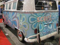 Globalshop 2012, flower power van, scentair booth